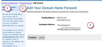 Forward URL